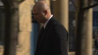 Graham Holroyd arriving at court