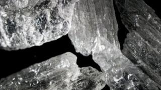 Crystal meth crystals