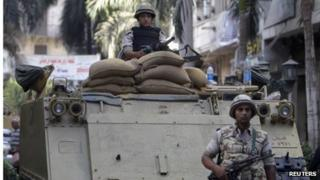 Egyptian soldiers in Cairo (file photo)