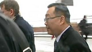 John Lu outside an earlier court hearing