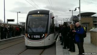 Edinburgh trams test