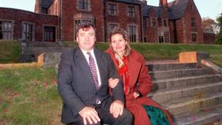 Dr Edward Haughey pictured with his wife, Mary, was among four people who died in the crash