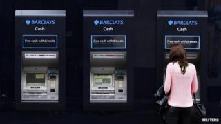woman at cash point