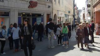 Guernsey's High Street in St Peter Port