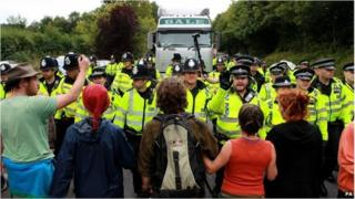 Balcombe anti-fracking protests