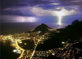 Lightning near Rio de Janeiro