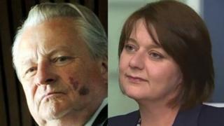 Dafydd Elis Thomas a Leanne Wood