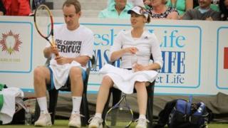 John McEnroe and Martina Hingis