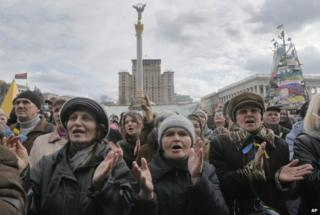Rally in Kiev in support of Ukraine (16 March)
