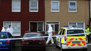 Police at murder scene in Killinarden Estate in Tallaght