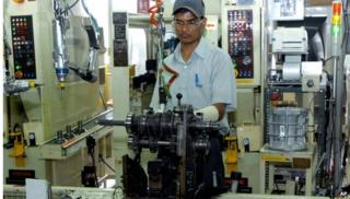 Man in toyota factory