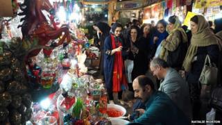Nowruz shoppers in Tehran ( picture by Natalie Morton)