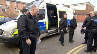 Gloucestershire Police officers working on Operation Garner