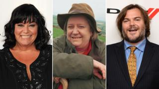 Dawn French, Clarissa Dickson Wright and Jack Black