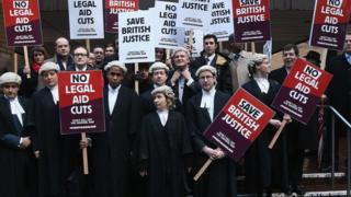 Barristers outside Southwark Crown Crown