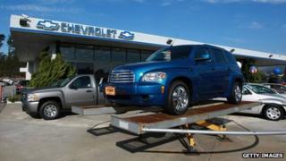 A Chevrolet HHR on display