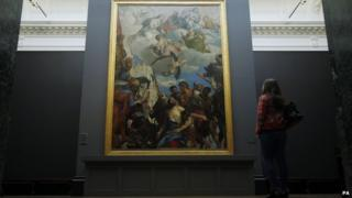 Paolo Veronese's The Martyrdom of St George, on display outside of Italy for the first time, during a press preview for the Veronese: Magnificence in Renaissance Venice exhibition at the National Gallery