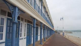 Esplanade chalets, Weymouth