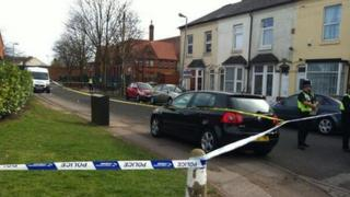 Police tape cordoning off Little Heath Lane