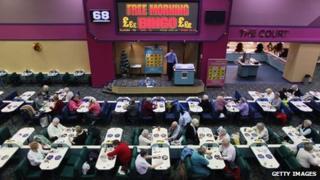 A bingo hall