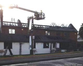 Pub after fire