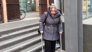 Katy Gammon leaves Bristol Magistrates court after pleading guilty