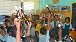 Children with recorders