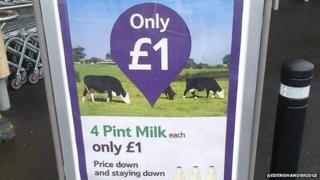 The Tesco advert for milk