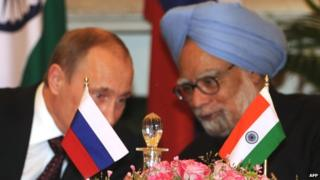 "Papers say President Putin thanked PM Singh for India's ""restraint"""