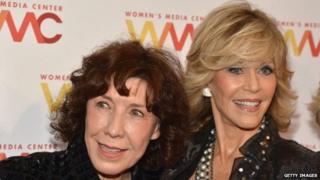 Actress Lily Tomlin and Jane Fonda