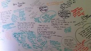 Memory wall at NI hospice