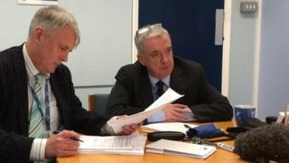 Councillor George Duggins and Brian Walsh