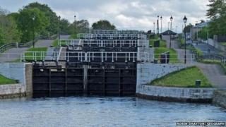Muirton Locks on the Caledonian Canal