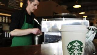 A barista appeared at a Starbucks in Seattle, Washington, on 27 April 2012