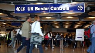 Border Control at London's Heathrow Airport