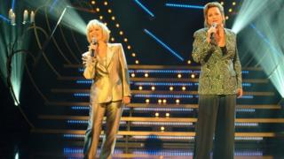 Barbara (right) had a big hit with Elaine Paige when they released I know him so well, from the musical Chess, in 1985