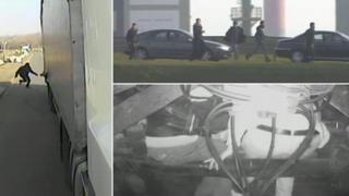 Calais migrant composite image