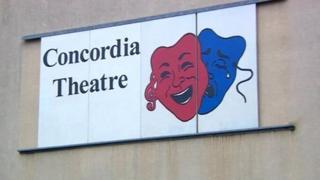 Concordia Theatre sign