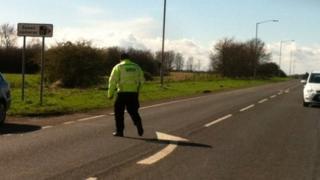 Scene of Chestfield fatal crash