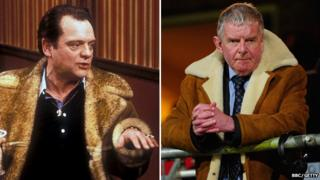 David Jason as Del Boy and John Motson