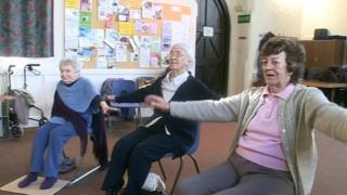 Exercise class for the elderly