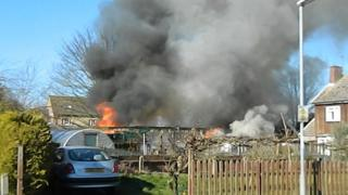 Fire in Bottisham, Cambridgeshire