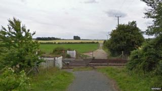 Cattishall railway crossing near Bury St Edmunds