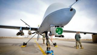 British Reaper drone in Afghanistan