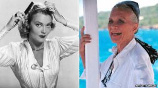 Patrice Wymore in 1952 and 2000