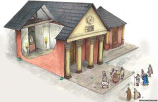 Roman Maryport reconstruction drawing