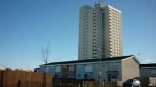 Milldane tower block on Orchard Park estate, Hull