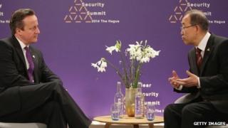 David Cameron with UN secretary general Ban Ki-moon