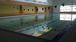 Swimming Pool at Les Beaucamps High School sports facility