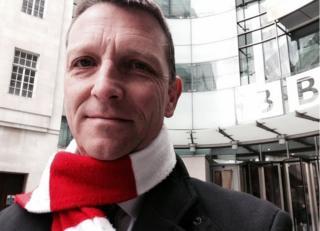 BBC Home editor, Mark Easton selfie